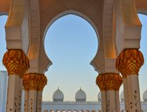 Grand Mosque of Abu Dhabi, UAE royalty free stock images
