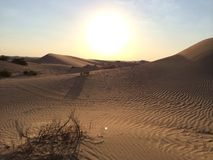 Abu Dhabi Desert Royalty-vrije Stock Afbeeldingen