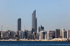 Abu Dhabi Downtown skyline Royalty Free Stock Photos