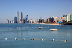 Abu Dhabi downtown skyline Royalty Free Stock Photo