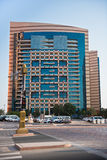 Abu Dhabi Downtown streets with skyscrapers Royalty Free Stock Image
