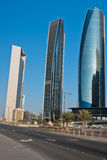Abu Dhabi Downtown streets with skyscrapers Royalty Free Stock Photography