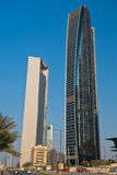 Abu Dhabi Downtown streets with skyscrapers Royalty Free Stock Images