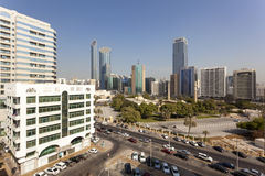 Abu Dhabi Downtown View Lizenzfreie Stockfotos