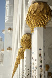 Abu Dhabi Dubai Pillars at Sheikh Zayed Mosque Stock Images