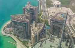 Abu Dhabi: een mening van het dak stock afbeelding