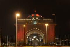 abu dhabi emiratów pałac obraz royalty free