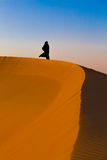 Abu Dhabi - emirate woman in desert Royalty Free Stock Photo