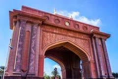 Abu Dhabi Emirates Palace Gate stock foto