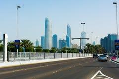 Abu Dhabi, Emirati Arabi Uniti - 27 gennaio 2018: Vi panoramico Fotografie Stock Libere da Diritti
