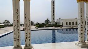 Abu Dhabi, Emiratos Árabes Unidos - em outubro de 2018: Mesquita do Sheikh Zayed Escaninho Sult?o Al Nahyan video estoque