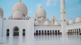 Abu Dhabi, Emiratos Árabes Unidos Mesquita do Sheikh Zayed Escaninho Sultão Al Nahyan video estoque