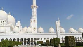 Abu Dhabi, Emiratos ?rabes Unidos Mesquita do Sheikh Zayed Escaninho Sult?o Al Nahyan vídeos de arquivo