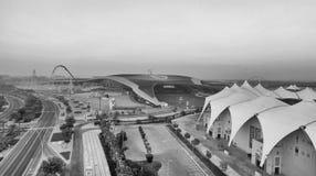 ABU DHABI FÖRENADE ARABEMIRATEN - DECEMBER 6, 2016: Flyg- sikt Royaltyfria Foton