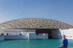 Abu Dhabi Förenade Arabemiraten, December 5, 2017: Louvre Royaltyfri Bild