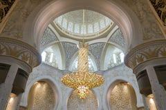 Abu Dhabi Förenade Arabemiraten, JANUARI 04, 2018: Inre th Royaltyfri Foto