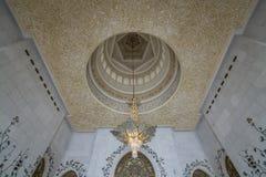 Abu Dhabi Förenade Arabemiraten, JANUARI 04, 2018: Inre th Royaltyfria Bilder