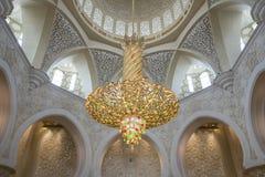 Abu Dhabi Förenade Arabemiraten, JANUARI 04, 2018: Inre th Royaltyfri Bild