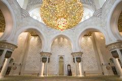 Abu Dhabi Förenade Arabemiraten, JANUARI 04, 2018: Inre th Fotografering för Bildbyråer