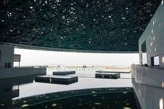 ABU DHABI FÖRENADE ARABEMIRATEN - JANUARI 26, 2018: Louvre Abu D Arkivbild