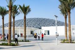 ABU DHABI FÖRENADE ARABEMIRATEN - JANUARI 26, 2018: Louvre Abu D Royaltyfri Fotografi