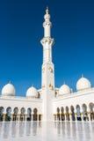 ABU DHABI FÖRENADE ARABEMIRATEN - JANUARI 4: Sheikh Zayed Grand Arkivbilder