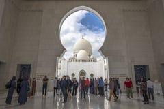 Abu Dhabi Förenade Arabemiraten, JANUARI 04, 2018: Sikt av Arkivbild