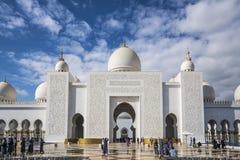 Abu Dhabi Förenade Arabemiraten, JANUARI 04, 2018: Sikt av Arkivfoto