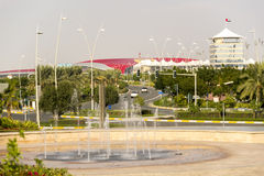 Abu Dhabi Ferrari World Theme Park Building in Uni Stock Photo