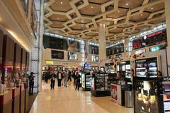 Abu Dhabi flygplats Royaltyfria Bilder
