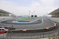 Abu Dhabi. The Formula 1 racetrack stock photos