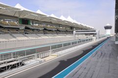 Abu Dhabi. The Formula 1 racetrack Royalty Free Stock Images