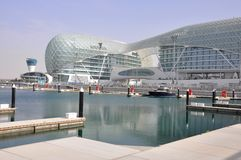 Abu Dhabi. The Formula 1 racetrack royalty free stock photo