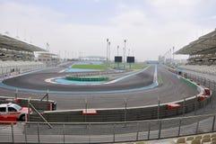 Abu Dhabi. Formule 1 renbaan stock foto's