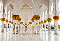 ABU DHABI - 5 GIUGNO: Sheikh Zayed Mosque Immagine Stock