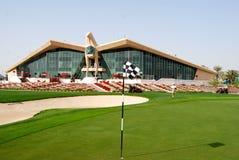 Abu Dhabi golfbana Royaltyfria Bilder