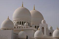 Abu Dhabi gran Moschee Stockbilder