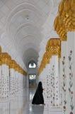 Abu Dhabi gran Moschee Stockfotografie