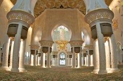 Abu Dhabi gran Moschee Stockfoto
