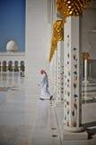Abu Dhabi gran Moschee Stockbild