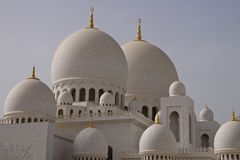 Abu dhabi gran mosque Stock Images