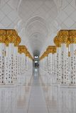 Abu dhabi gran mosque Royalty Free Stock Photo