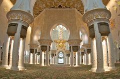 Abu dhabi gran mosque Stock Photo