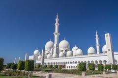 Abu Dhabi Grand-Marmor Moschee - Vereinigte Arabische Emirate Stockfoto