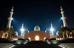 Abu Dhabi Grand Mosque Royalty Free Stock Images