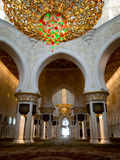 Abu Dhabi Grand Mosque indoor Royalty Free Stock Photos
