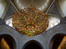 Abu Dhabi Grand Mosque indoor Stock Image