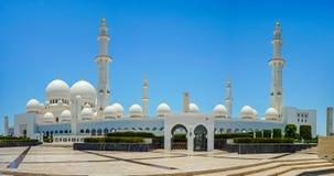 Abu Dhabi Grand Mosque. Sheikh Zayed Grand Mosque in Abu Dhabi royalty free stock photos