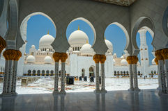 Abu Dhabi Grand Mosque Royalty Free Stock Photography