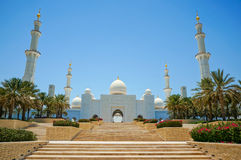 Abu Dhabi Grand Mosque Royalty Free Stock Photo